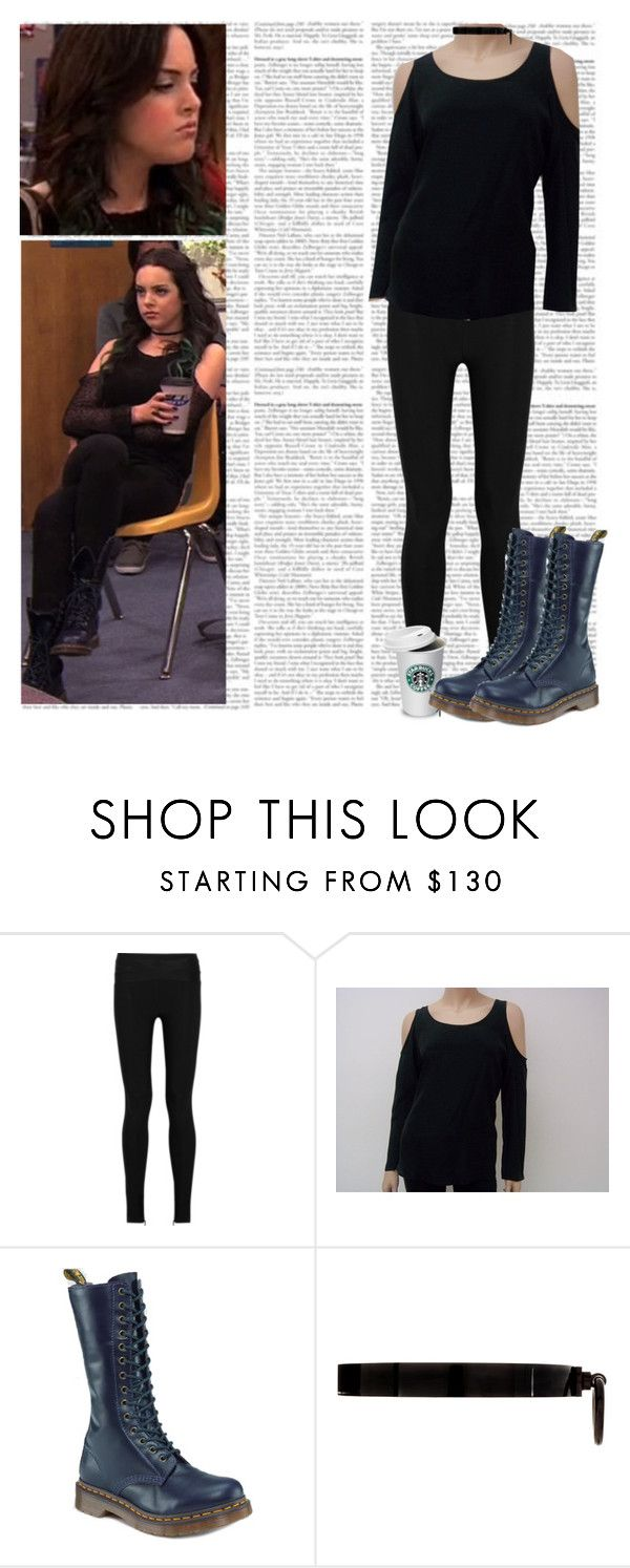 """""""Dress Like Jade"""" by thejadewest ❤ liked on Polyvore featuring Hervé Léger, Aaron Ashe, Dr. Martens, ASOS, jade west, elizabeth gillies, victorious and liz gillies"""