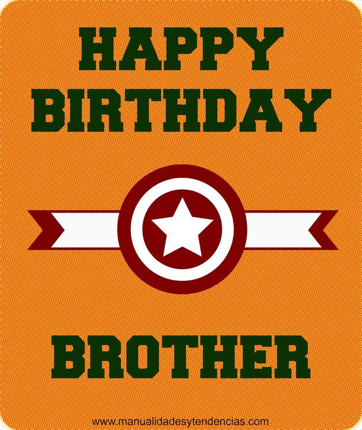 Tarjeta de cumpleaños para hermano gratis www manualidadesytendencias com #tarjetacumpleaños #