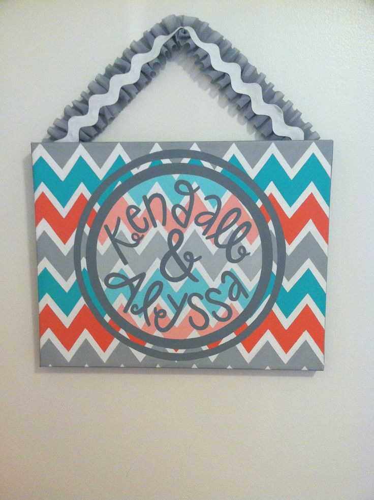 DIY door sign for dorm room