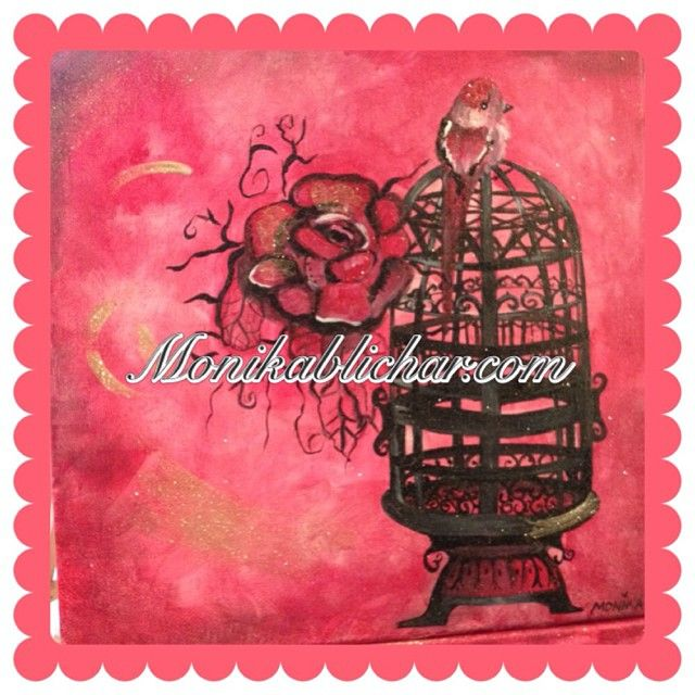 Cage d'un Oiseau-Signed Print $30/each #40paintingchallenge #dordogne #france