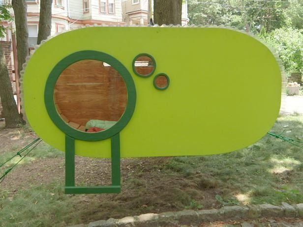 A Mod Hanging DIY Treehouse
