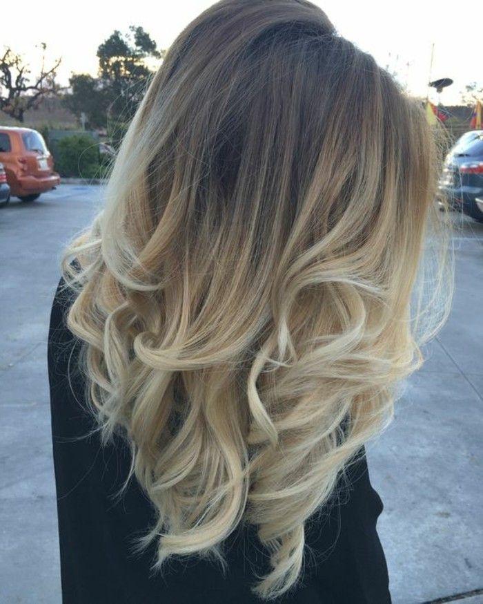 Optique beauté balayage sur cheveux chatain foncé