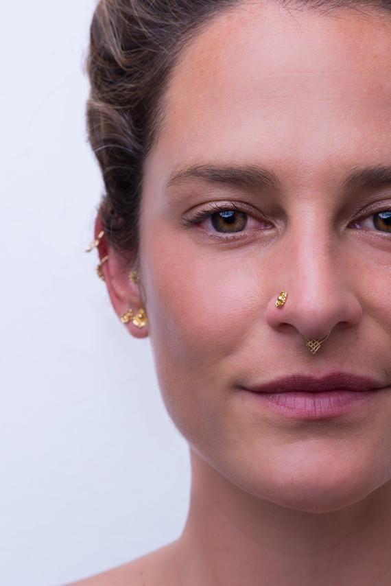 Gold Septum Ring Septum Jewelry Tribal Septum Cartilage Earring