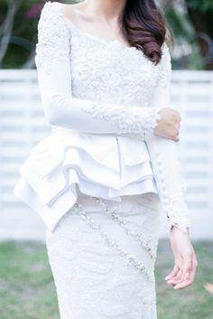 mimpi kita peplum wedding dress