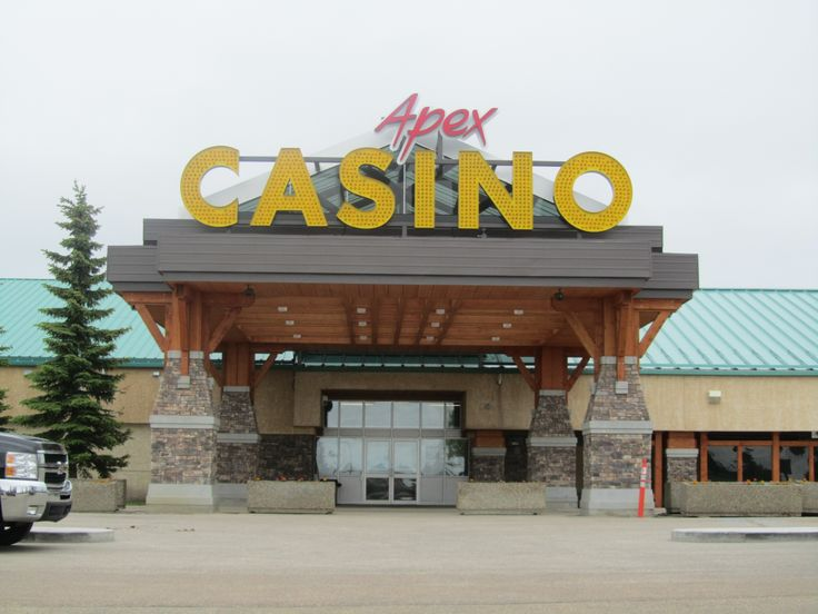 Apex Casino in St. Albert, Alberta. 6' High open channel letters with flashing yellow LED bulbs.