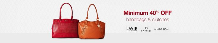 Amazon is offering Minimum 40% off on Handbags and Clutches with big brands like Lavie, Caprese, Hidesign and Many More