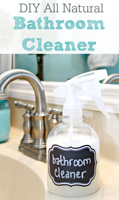 DIY All Natural Bathroom Cleaner   Remodelaholic.com