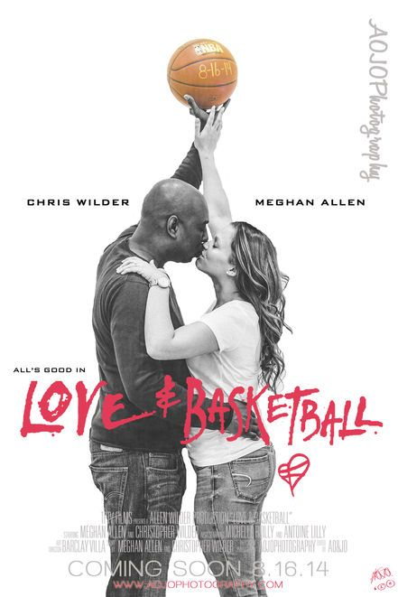 Love & Basketball movie poster engagement photo @Adrian Outlaw - Raleigh, NC Wedding Photographer | SnapKnot