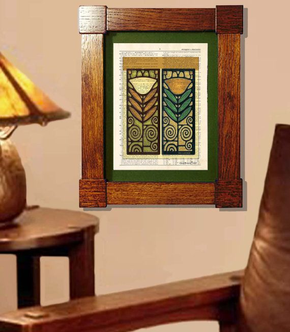 Dictionary Art Print Arts And Crafts Pinecone 2 Wood