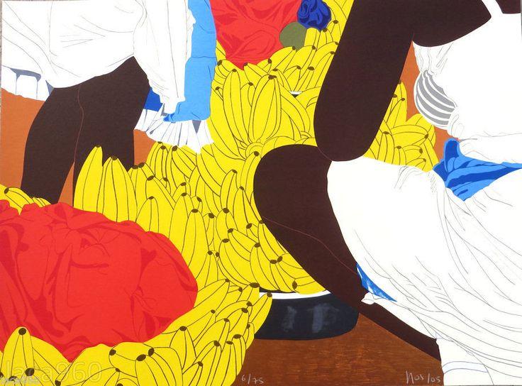 Ana Mercedes Hoyos Colombian Bazurto Signed Original Lithograph #2