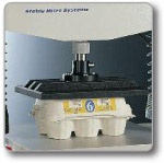 Compression Platen: used to assess packaging compressive strength.