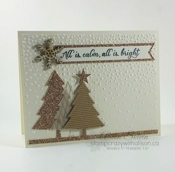 Peaceful pines card