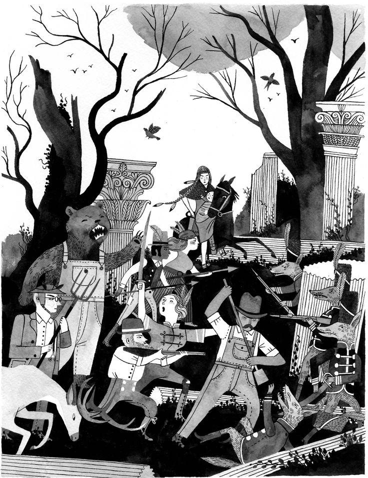 Carson Ellis. Illustration for 826 LA charity event.