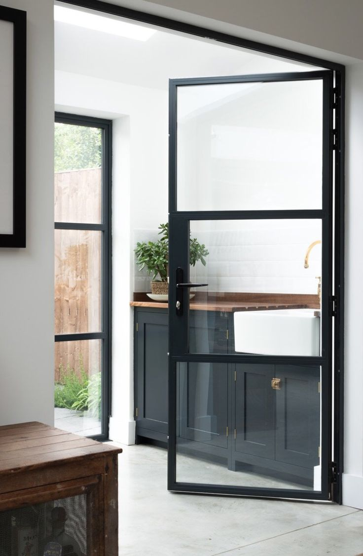 Best 25 aluminium doors ideas on pinterest modern front door aluminium front door and - Kitchen door designs ...