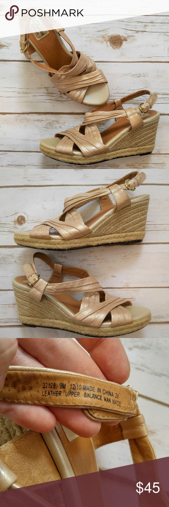 Clarks Artisan Rose Gold Nude Espadrille Heels Clarks Artisan Rose Gold Nude Espadrille Heels Size 9 in like new condition. Please feel free to ask any questions or bundle with other listings in my closet for a custom discount on your order. I ship the same day as long as the order is placed before 11:00 AM Central time. If you would like to be notified about price drops remember to 'like' the item to bookmark it! Thank you for checking out my closet and happy poshing! Clarks Shoes…