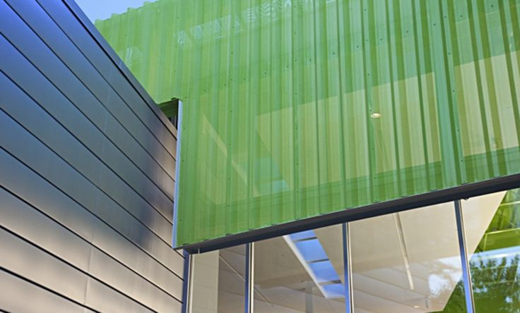 Roof Screen Wall : Metal wall roof systems perforated panels morin corp