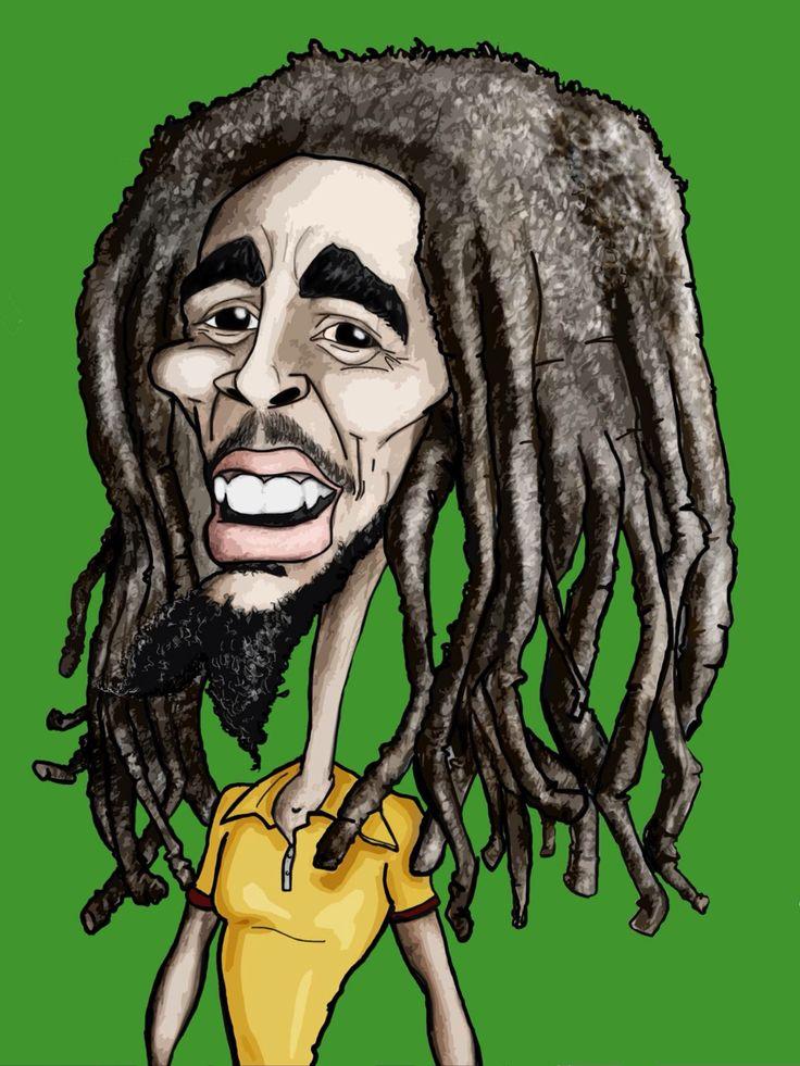 Bob Marley #caricature #cartoon #illustration #drawing