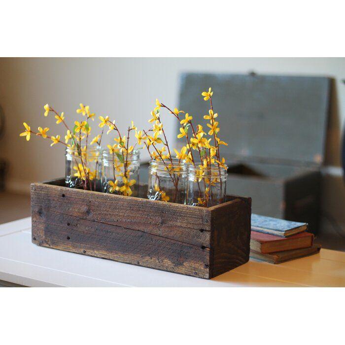 Withun Wood Planter Box Wood Box Centerpiece Wood Planters Rustic Wood Box