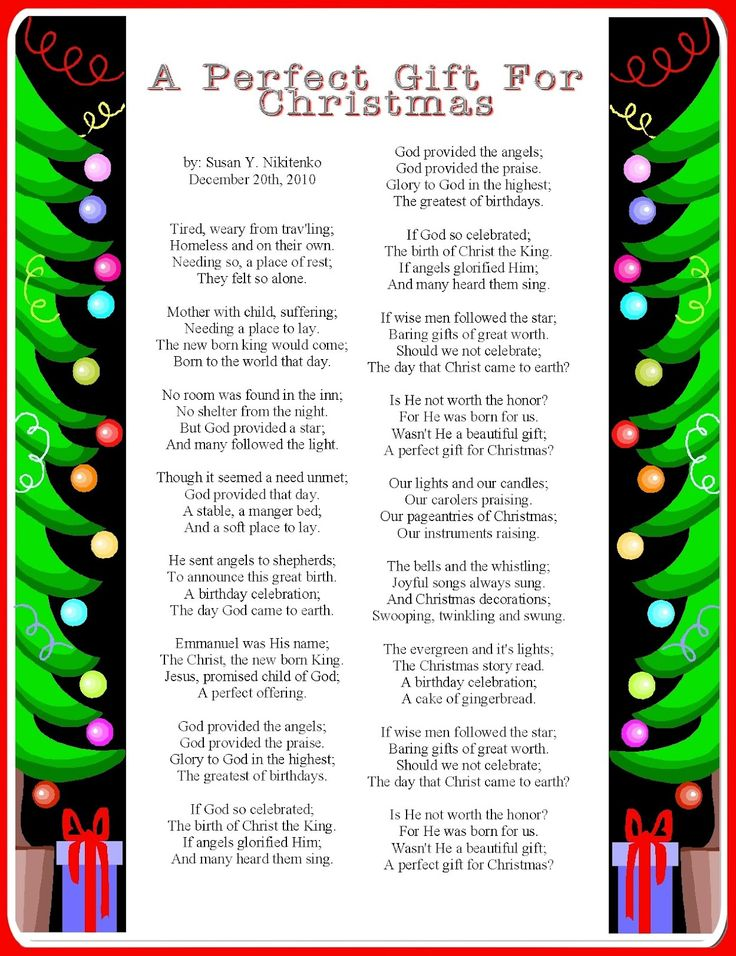Perfect poem for Christmas