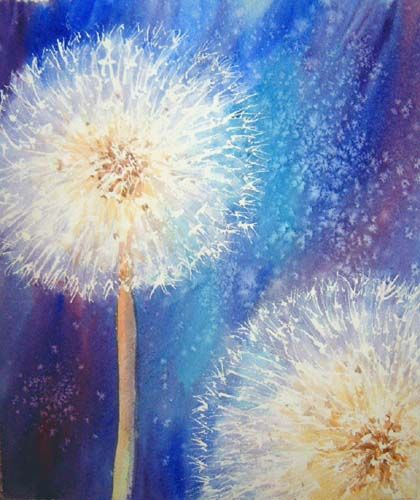 Ruth_S_Harris: Paint a Dandelion Clock Seed Head (3 of 4)