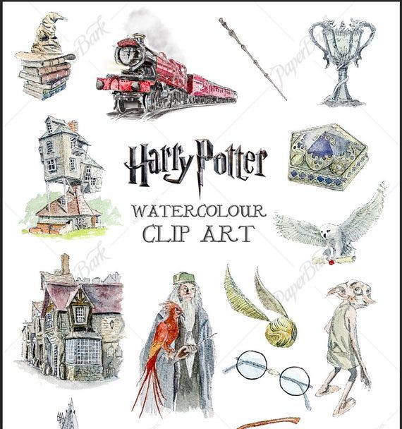 Downloadable Harry Potter Watercolour Clip Art On Transparent Background For Personal Use Hogwarts Expr Harry Potter Watercolor Harry Potter Painting Clip Art