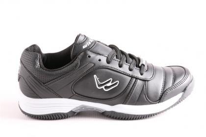 Wickers Erkek Koşu ve Yürüyüş Kategorisi Siyah Serin Mikrofiber Deri Pylon Taban Spor Ayakkabı