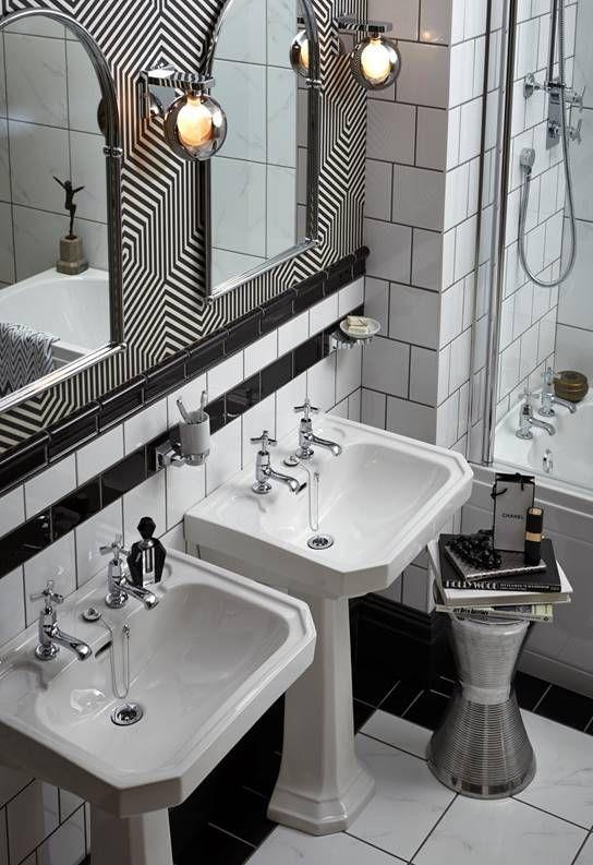 Bathroom Suites Showers Baths Taps Wc S Accessories Heritage Bathrooms Art Deco Interior Art Deco Home Art Deco Bathroom