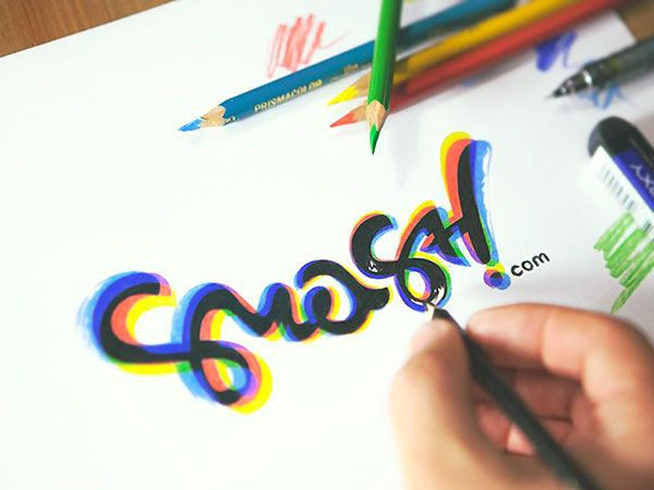 Шрифтовой или каллиграфический логотип, леттеринг {Calligraphic and font logo…