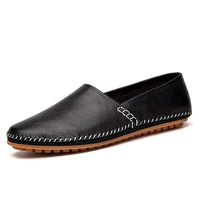 4a7b4a622dae2 Amazon.com   fisca Men's Leather Driving Loafers Slip-on Moccasins ...