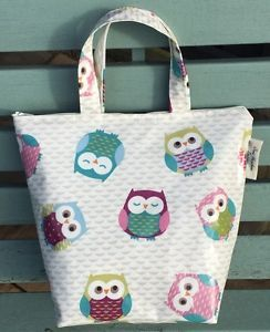 Insulated lunch bag in owl print Oilcloth | eBay