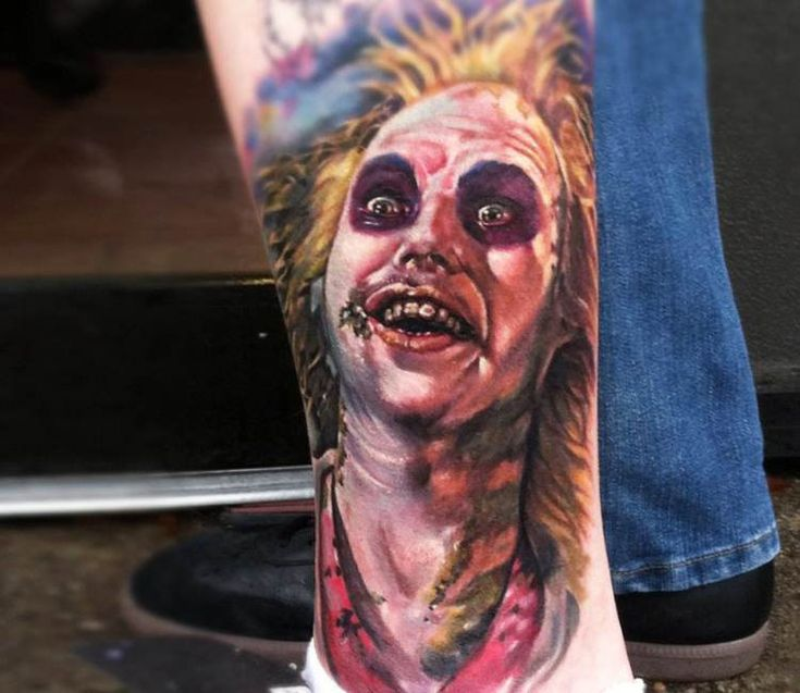 Beetlejuice tattoo by Kris Busching