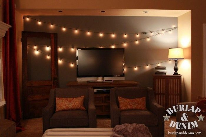 Vintage string lights for indoors... Home [Basement Ideas] Pinterest Gardens, Light walls ...