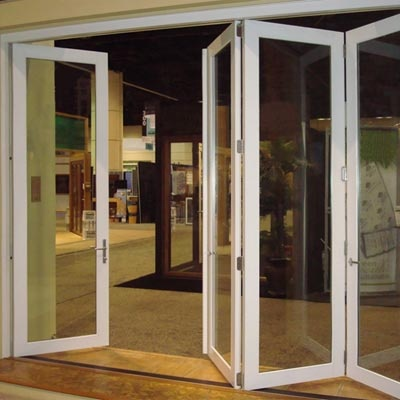 Folding door systems are perfect for creating an expansive for Fenetre baie window prix