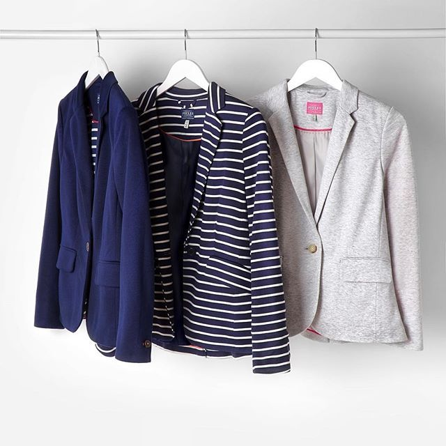 A great alternative to a traditional blazer, the Mollie blazer. #joules #sale #lastchance #blazer #stripes #jersey