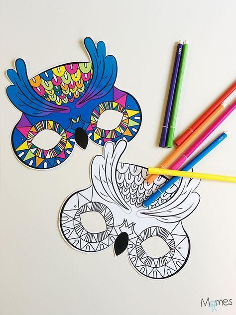25 best masques imprimer images on pinterest mardi gras carnivals and birthdays - Masque canard a imprimer ...