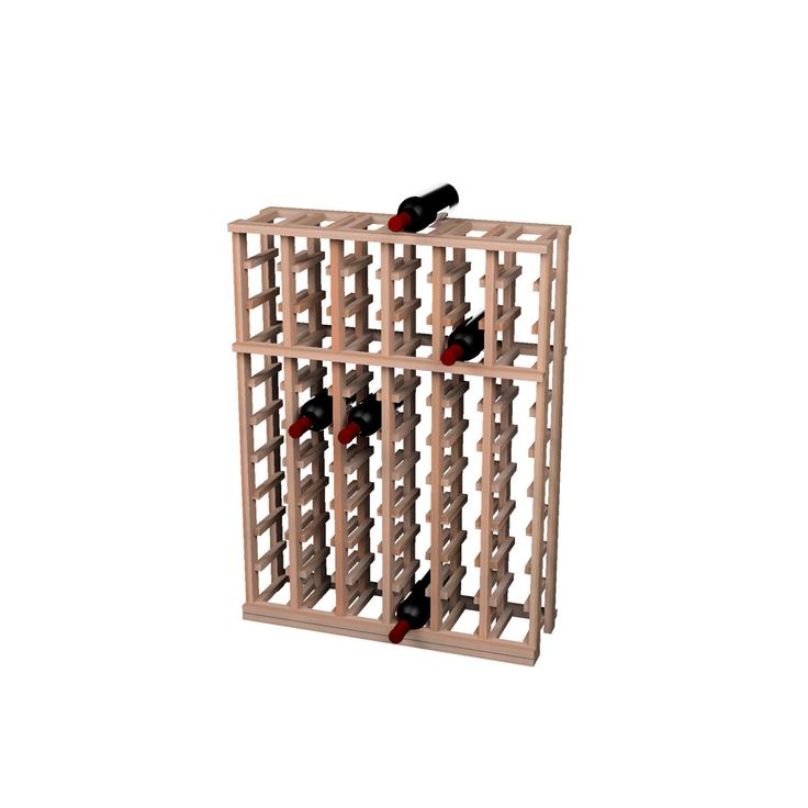 Traditional Redwood 6 Column Half Height Wine Rack - Overstock™ Shopping - Great Deals on Wine Cellar Innovations Wine Racks