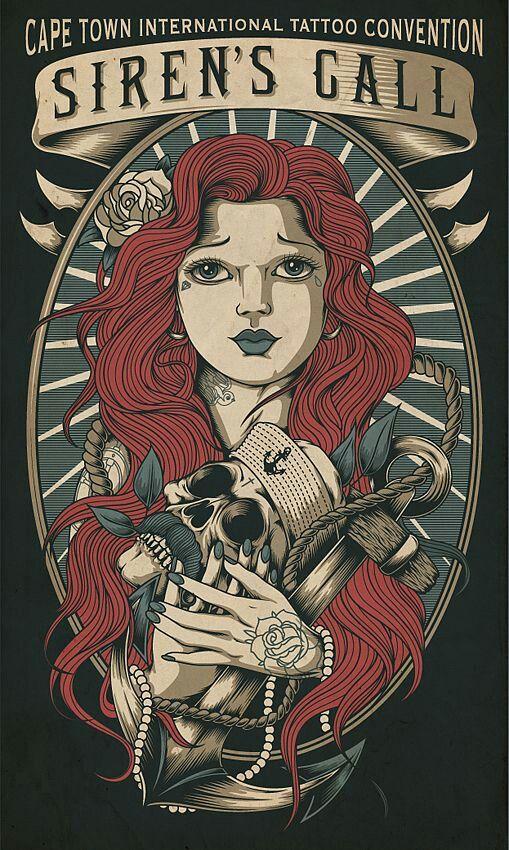 Affiches de tatouage vintage