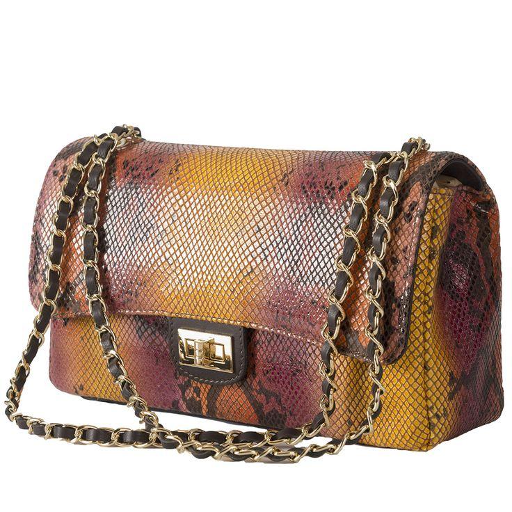 Marlafiji Vivien Python effect Italian leather shoulder bag www.marlafiji.com FREE SHIPPING WITHIN AUSTRALIA