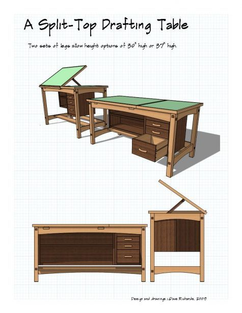 Pattern for a drafting table; might be useful - with modifications - 38 Best DIY Drafting Tables Images On Pinterest