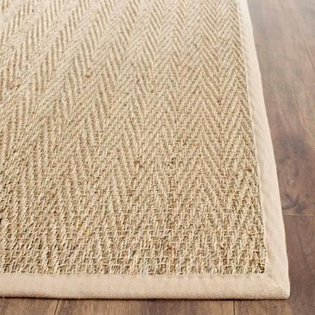 Safavieh Herringbone Seagrass Rug, Natural/Beige
