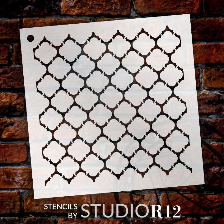 Quatrefoil Pattern Stencil - Select Size - STCL1028 - by StudioR12