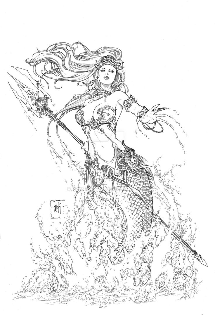 Mermaid coloring pages for adults - Little Mermaid 5 By Kromespawn Deviantart Com On Deviantart Mermaid Coloringadult Coloring Pagescoloring