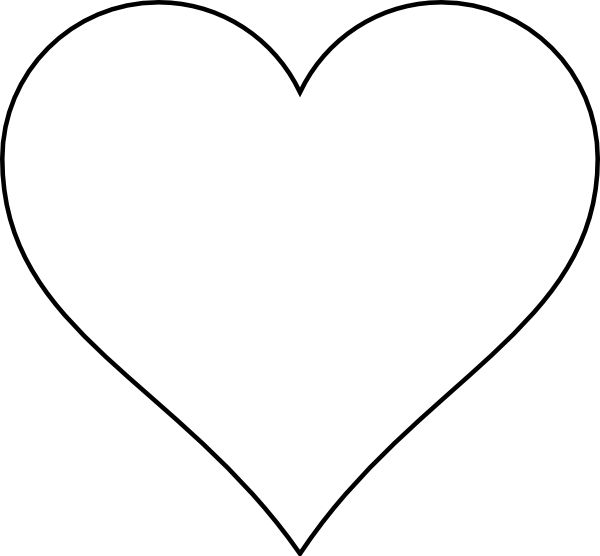 heart template printable | Large Heart layout clip art