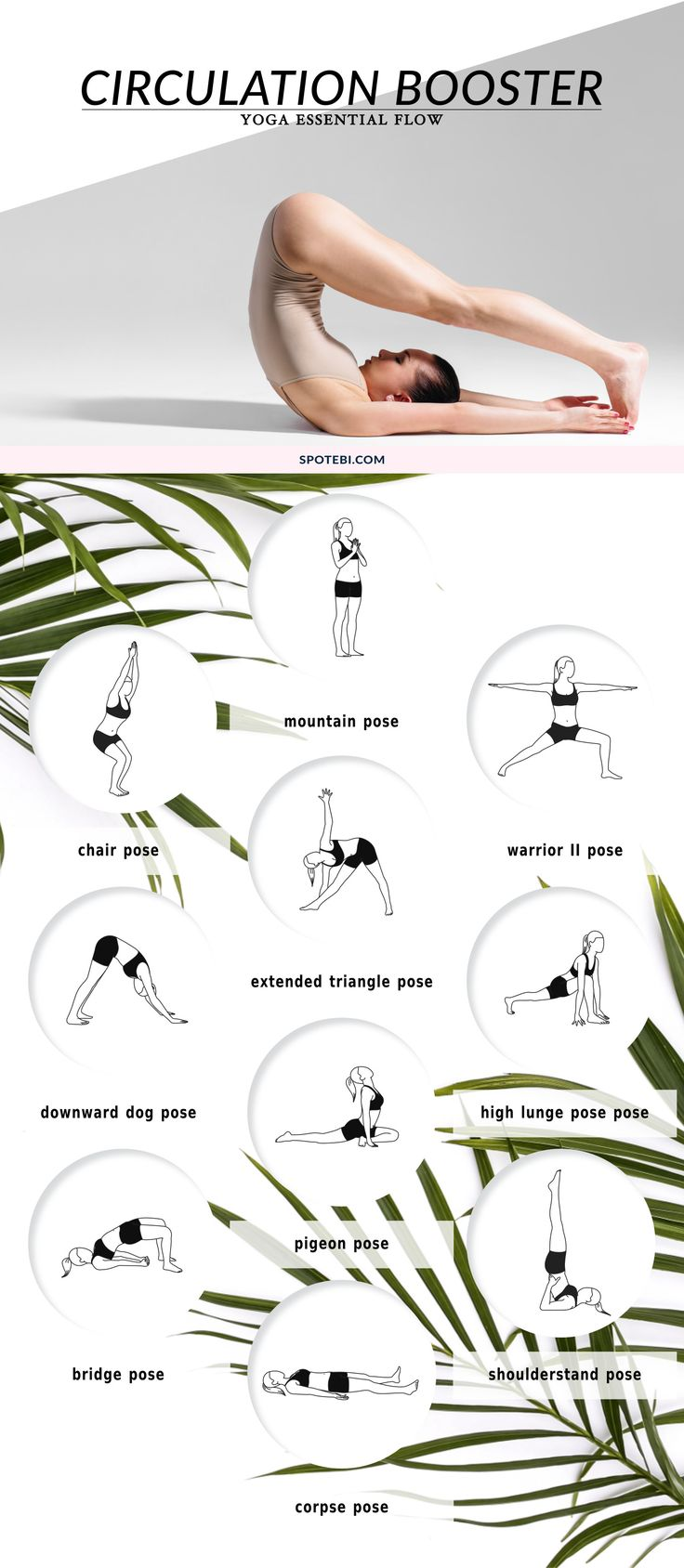 If you spend a lot of time sitting down and are worried about how that can affect your health, just squeeze in our Circulation Booster Sequence in one of your sitting breaks, and allow your body to heal and repair. This 12 minute yoga essential flow is designed to improve blood circulation, boost your immune system and reduce stress levels! http://www.spotebi.com/yoga-sequences/circulation-booster/