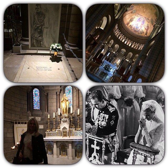 #Rocher Белоснежный и громадный собор⛪️,где 18 апреля 1956 года в Монако состоялась церемония венчания Грейс Келли и принца Ренье III.За трансляцией наблюдало 30 миллионов телезрителей.На торжественных церемониях присутствовали звез