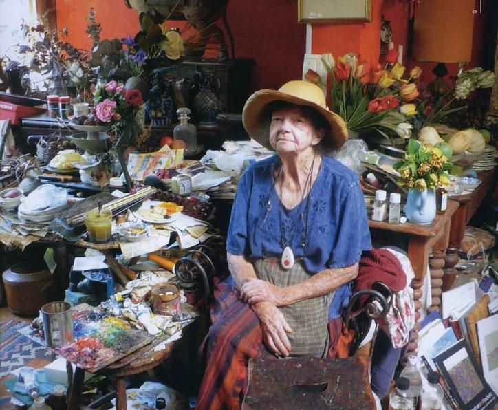 Loved visits to her home full of everything she painted. No dusting allowed