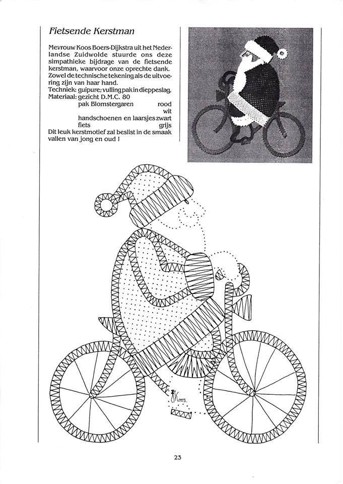 kerstman op de fiets