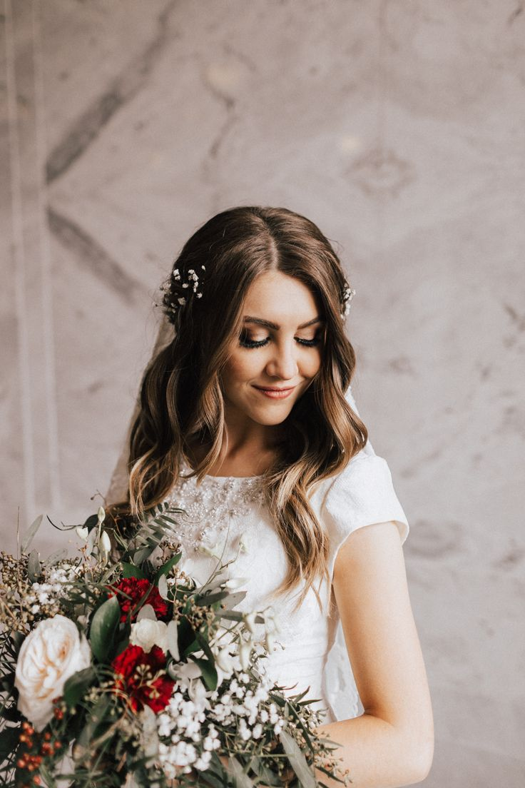 Anna Richey (bride), Taylor Robison (photographer), Anna Richey (hair), Marisa Rose (makeup), David's Bridal (dress), Sky Floral (flowers), Utah State Capital Building (location).