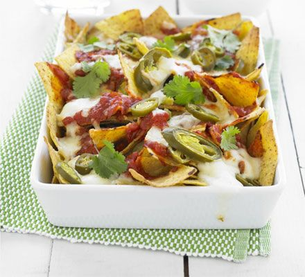 Representing Jamaica are these Reggae reggae nachos - this is a great recipe to make for watching the Olympics!