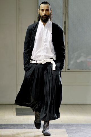 Yohji Yamamoto Mens 2012 S/S Black Hakama Pants